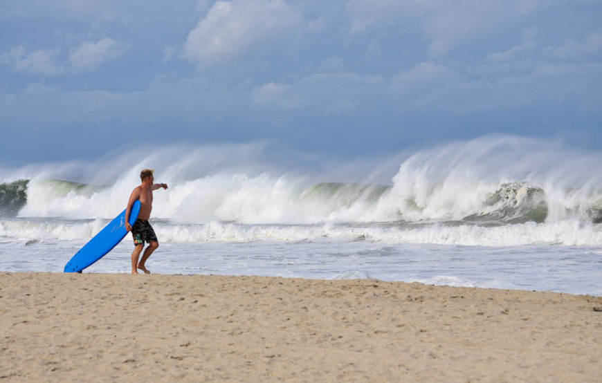 Monmouth County Surf Photos Hurricane Swell
