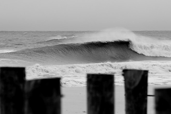 Big Waves in Cape May New Jersey
