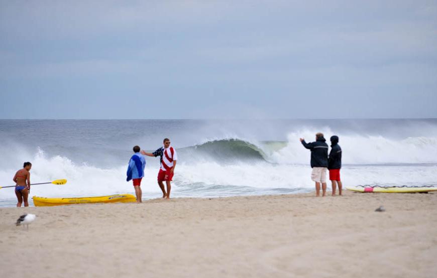 Hurricane Arthur Surf Photos