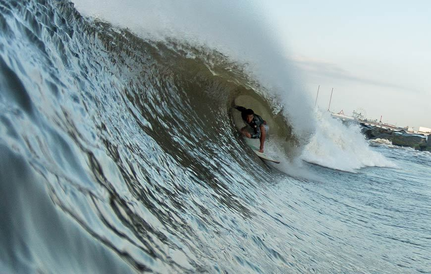 Hurricane Cristobal Surfing Photos