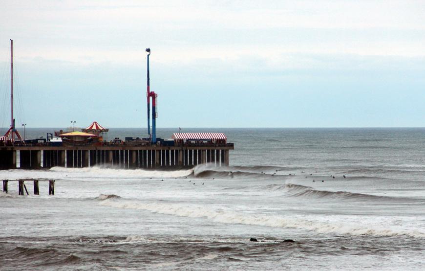 Hurricane Surfing Photos Atlantic City