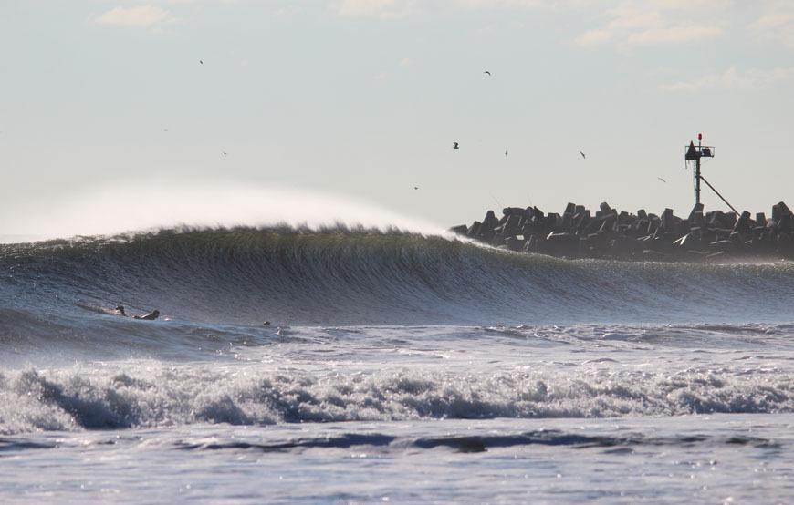 January Surfing Waves NJ