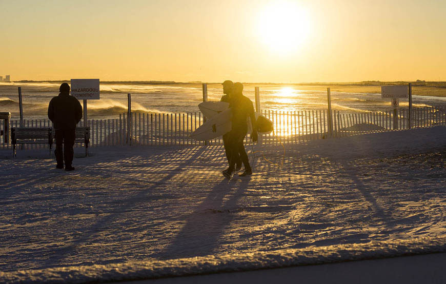LBI Snow Swell New Jersey Surfing
