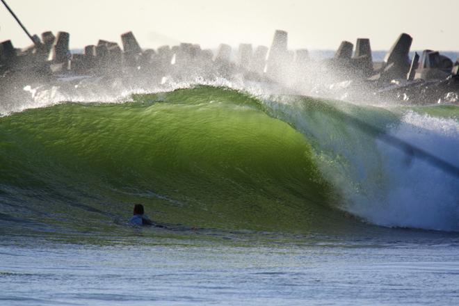 Surfing Manasquan Inlet NJ