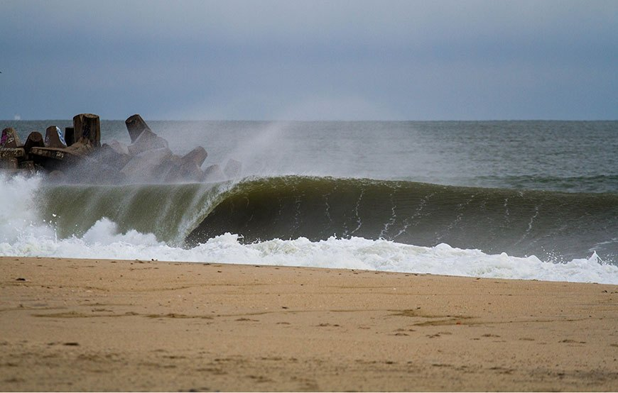 Surfing New Jersey NorEaster
