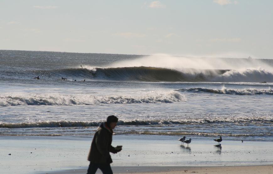 Surfing Belmar Thanksgiving Swell
