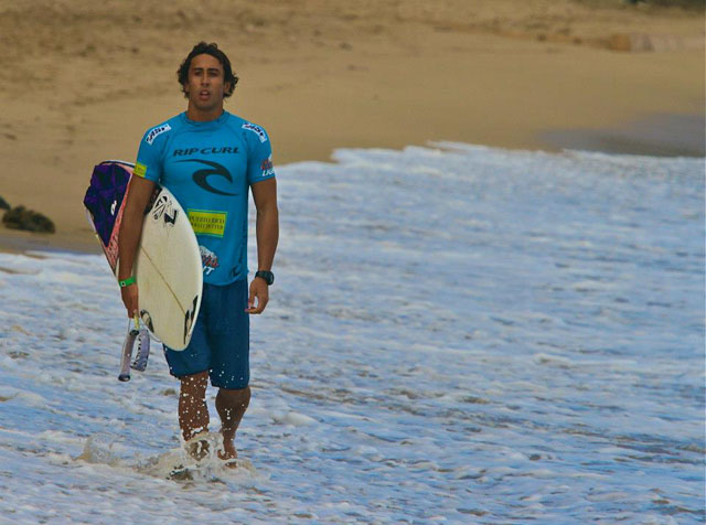 Rob Kelly Competing in the Rip Curl Pro Puerto Rico