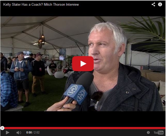 Mitch Thorson interviewed at the Margaret's River Pro.