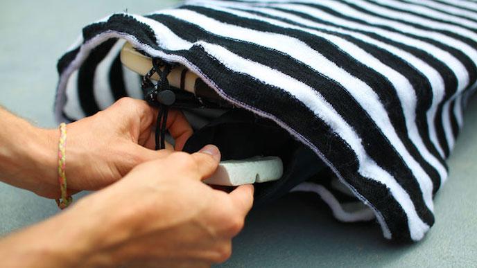 wax pocket surf sock