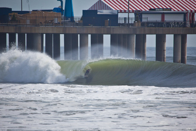 Big Waves Surfing Atlantic City Hurricane