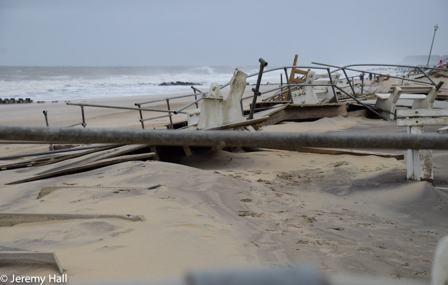 Hurricane Sandy NJ Beach Damage