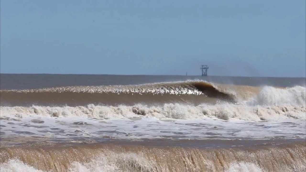 surfing big waves in texas