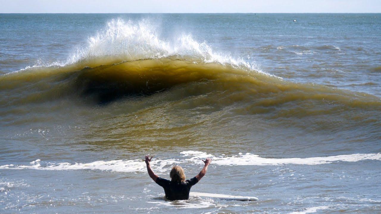 Hurricane Ida Surfing
