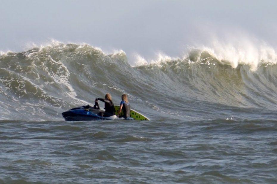 hurricane larry nj surf